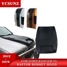 ABS Матовый Черный капот совок капюшон для Ford Ranger 2012 2013 2014 T6