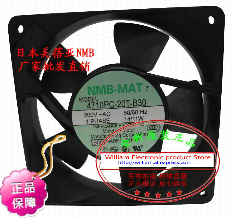 New Original Japan NMB 4710PS-20T-B30 120*25MM AC200V 14/11W Cooling fan nmb new and original fba09a12m 9025 9cm 12v 0 2a chassis silent cooling fan 90 90 25mm