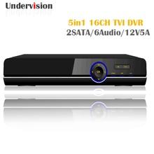 AHD CVI TVI 5in 1 AHD 1080N DVR,onvif  HDMI CCTV IP camera 16channels input and mix random 5in1 TVI DVR 2SATA 6audio 12V 5A