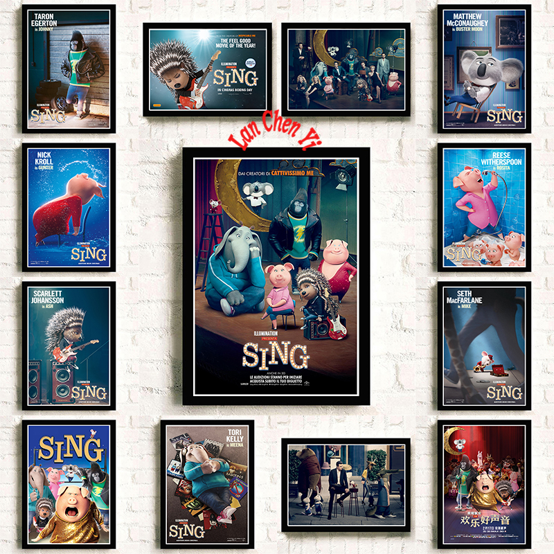 America 2016 Cartoon Coated paper poster Office Gift Room Dining Home Decor wall sticker Design