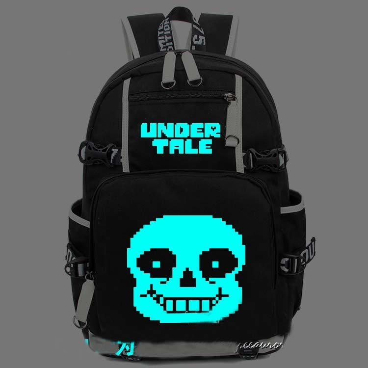 New Game Undertale Luminous Backpack Cosplay Anime Student School Bags Bookbag Man Women Shoulder Laptop Travel Bags Gift