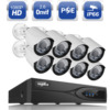 SANNCE 1080P 8CH HDMI NVR PoE Kit 2 0MP 3000TVL IP Network Outdoor CCTV Security Camera