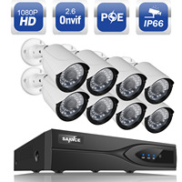 SANNCE 1080P 8CH HDMI NVR PoE Kit 2 0MP 3000TVL IP Network Outdoor CCTV Security Camera
