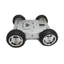 Бесплатная доставка Максимальная Нагрузка 20 КГ Полный алюминиевый сплав робот шасси 4wd робот салона автомобиля шасси