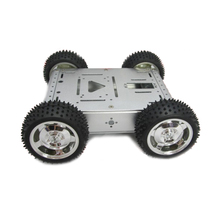 Free shipping Maximum Load 20KG Full aluminum alloy robot chassis 4wd smart car