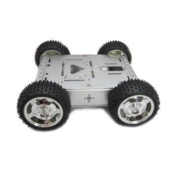 UniHobby 4 Wheel Drive Platform Maximum Load 20KG Full aluminum alloy robot chassis 4wd robot smart car цена 2017