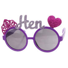 Purple Bachelorette Hen Party Supplies Hen Letter Glasses Bride Sunglasses Eye Decoration Photo props purple bachelorette hen party supplies hen letter glasses bride sunglasses eye decoration photo props