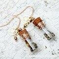 Brincos de Pingente de Presente de amor eterno amor menina garrafa transparente, de metal retro jóias pingente