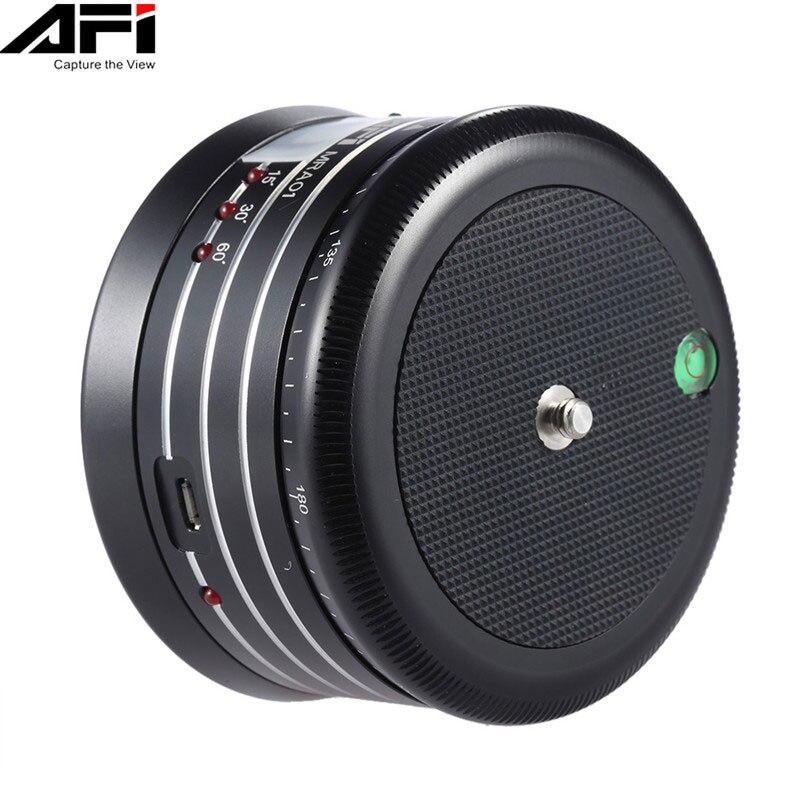 AFI MRA01 Mini Électrique Panorama 360 Rotation Time Lapse Trépied Rotule Pour Téléphone GoPro Action Caméra Selfie Bâton Panoramique