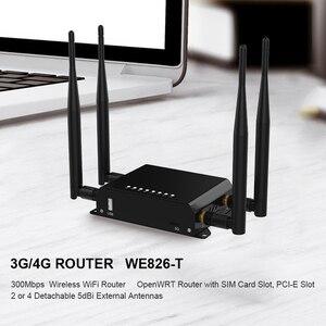 Image 5 - WiFi Router 4g 3g Modem Con SIM Slot Per Schede di Punto di Accesso Openwrt 128 MB Per Auto/Bus 12 V GSM 4G LTE USB Router Wireless lungo raggio WE826 T2
