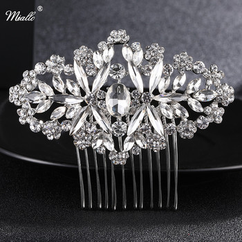 Miallo Bridal Hair Comb Vintage Hair Clips Bridemaid Prom Flower Crystal Rhinestone Headpiece Wedding Hair Accessories Jewelry