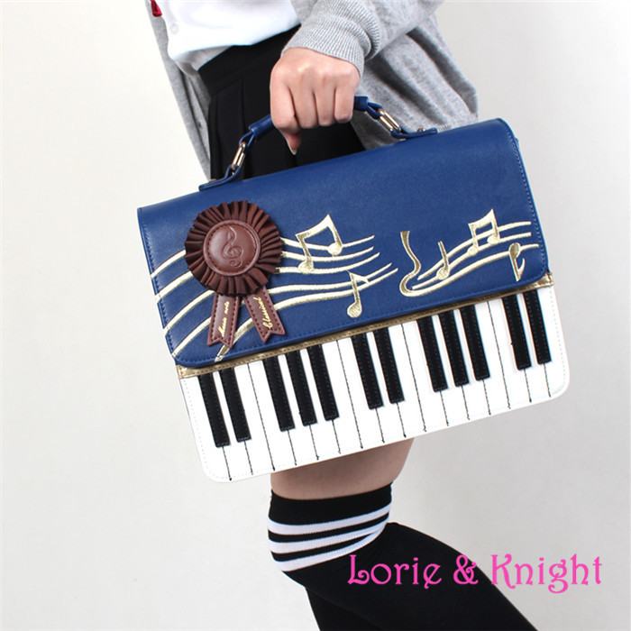 ФОТО Japanese harajuku College Princess Lolita Bag  Keys Bag PU Wine Red Blue Black  single-shoulder bag  Messenger Bag