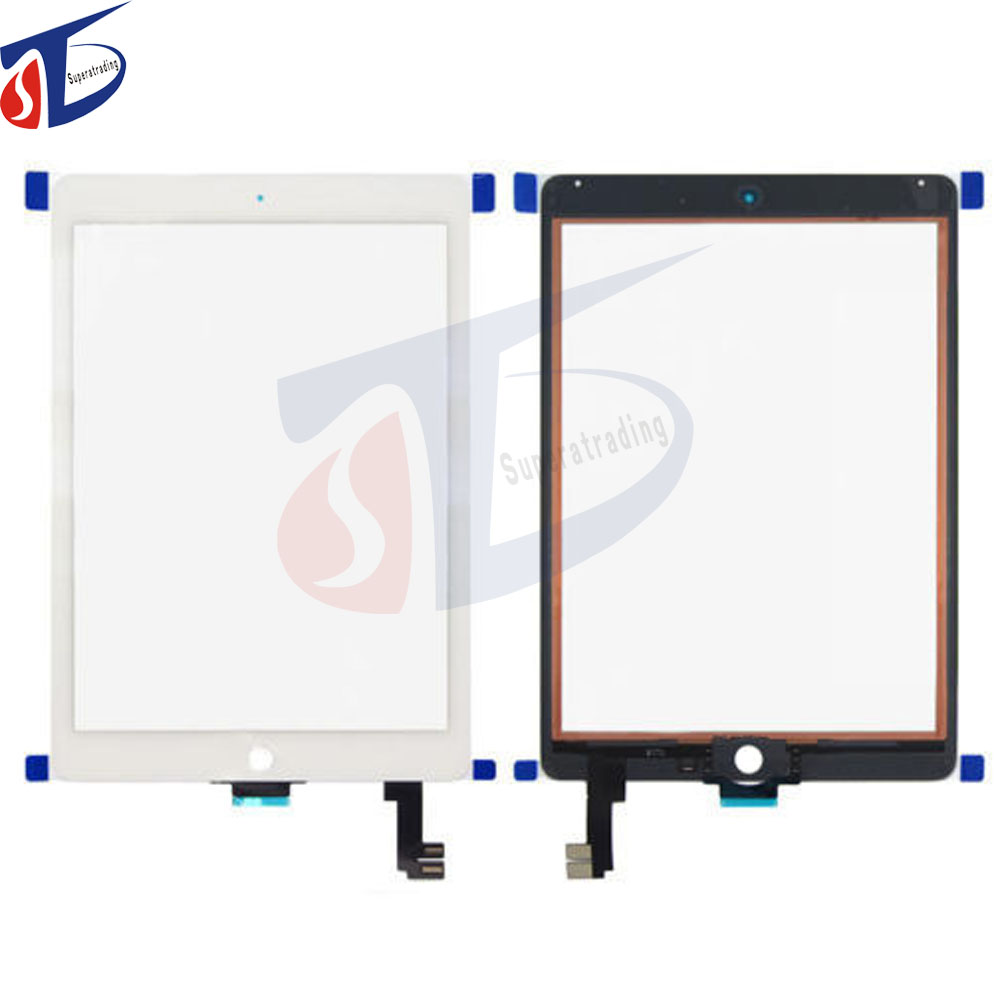 New black white For iPad Air 2 for iPad 6 A1567 A1566 Replacement Touch Screen Digitizer Glass without Home Button цена