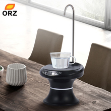 ORZ Bottled Water Pumping USB Rechargeable Dispenser Automatic Electric Pure Bucket Drinking Bottle Drinkware