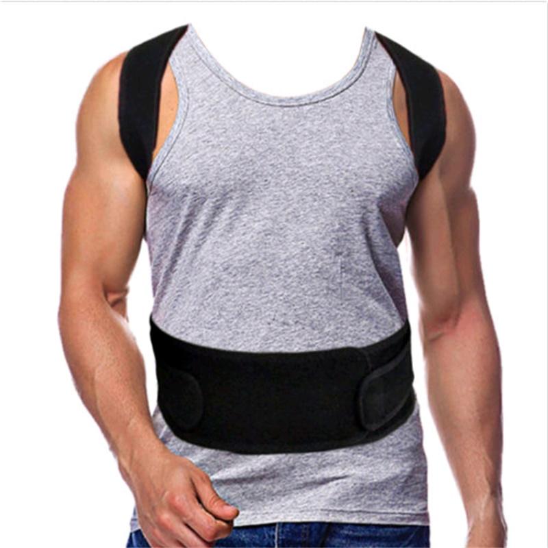 back support for women Men's Back Posture Corrector Back Braces Belts Lumbar Support Belt Strap Posture Corset for Men HEALTH CARE AFT-B003 (4)