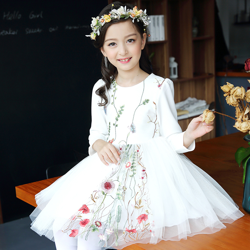 2017 Kids Girls Flower Dress Baby Girl Birthday Party Dresses Children Fancy Princess Ball Gown Wedding Clothes 10 11 12 13 14 T baby girls party dress 2017 wedding sleeveless teens girl dresses kids clothes children dress for 5 6 7 8 9 10 11 12 13 14 years