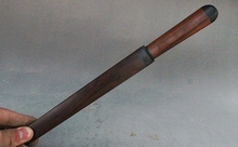12″ Old China Royal Palace Red Rosewood Auspicious Lucky Scabbard Paper knife