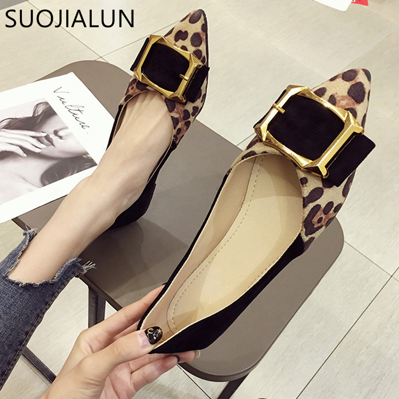 Womens Ladies Studded Flat Low Heel Bow Leopard Loafers Shoes Pumps Size GRIP