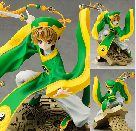 Japanese Anime Figure Cardcaptor Sakura Li Syaoran Doll 1/7 Scale PVC Painted Figure Model Toy 25cm