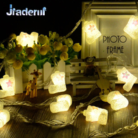 Jiaderui 4M 20LED Christmas Boots String Fairy Light Home Garden Decor Lights Santa Luces New Year