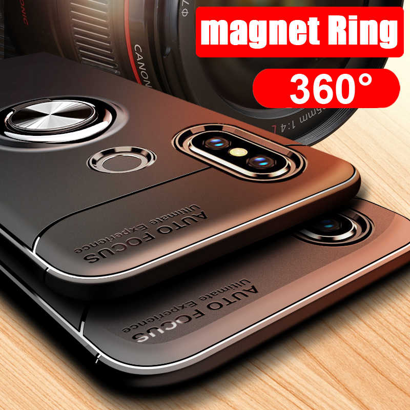 360 Rotating metal Magnetic Silicone Case For Xiaomi 8 8SE Mi8 Redmi Note 7 Pro 6 6A S2 Y2 Pocophone F1 Cover magnet holder TPU