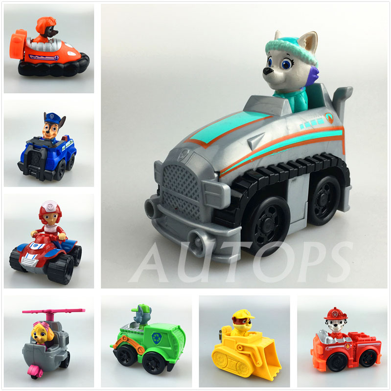 ATS 8pcs/lot toys Big Puppy Patrol Patrulla Canina Toys action figure anime Vehicle Car Russian Kid Toy Spain Patrol Canine