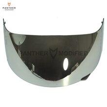1 Pcs Chrome Motorcycle Full Face Helmet Visor Shield Case for AGV GP-Pro S4 Airtech Stealth Q3 Titec