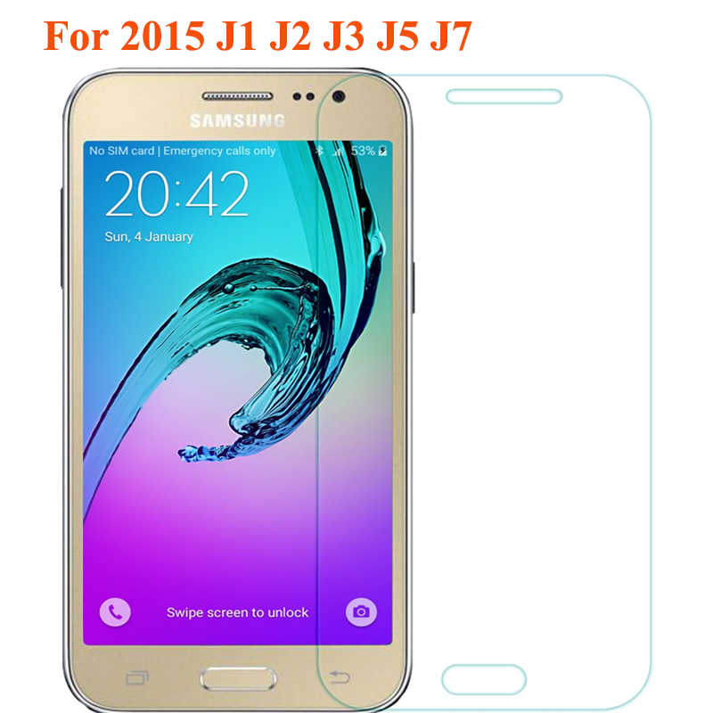 Xindiman المقسى زجاج الشاشة لسامسونج غالاكسي J1 J2 J3 J5 J7 2015 9 H صلابة 2.5D واقي للشاشة ل 2015 a3 A5 2016