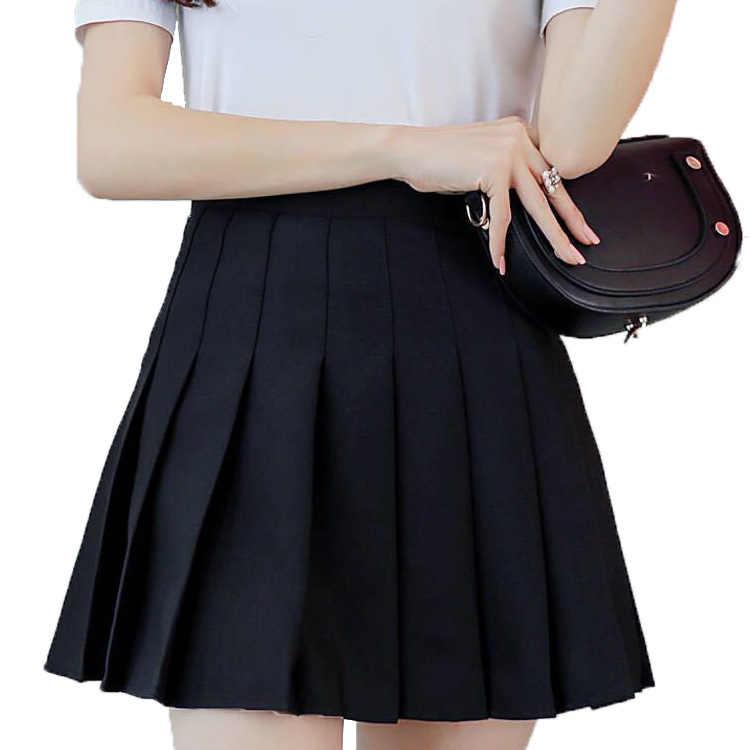 Hot Japanse Koreaanse Versie Korte Rokken School Meisje Geplooide Half Rok School Uniform Cosplay Student Jk Academy Tien Kleuren 3XL