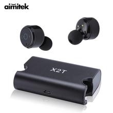 X2T Mini True Wi-fi Bluetooth Earphones TWS Stereo Earbuds Twins Headset X1T Improve Model Earpiece With 1500mAh Energy Financial institution