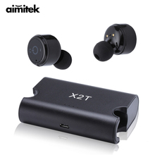 Buy online X2T Mini True Wireless Bluetooth Earphones TWS Stereo Earbuds Twins Headset X1T Upgrade Version Earpiece With 1500mAh Power Bank