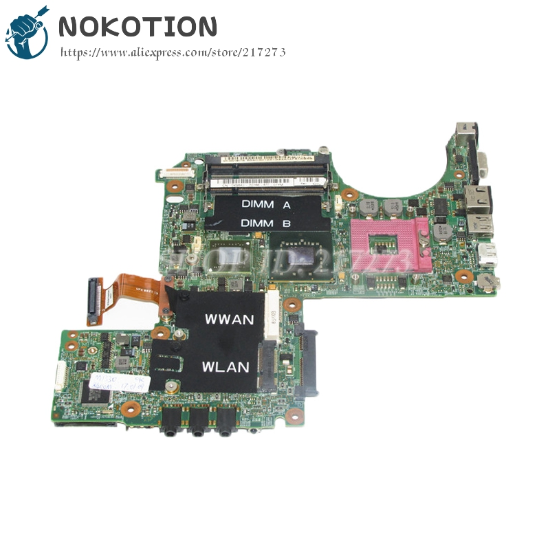 NOKOTION Laptop Motherboard For Dell XPS M1330 Main Board CN-0K984J 0K984J 965PM DDR2 8600M update graphics Free cpu nokotion 0h2ydf cn 0h2ydf motherboard for dell latitude e6420 laptop main board pal51 la 6592p geforce nvs4200m graphics