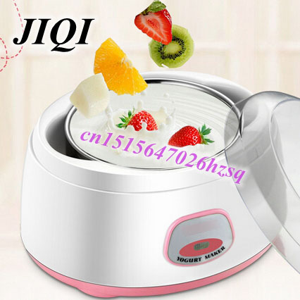 CUKYI fully automatic yogurt maker Stainless steel liner PTC material safe and healthy Food Container design 1L large capacity hot selling electric yogurt machine stainless steel liner mini automatic yogurt maker 1l capacity 220v