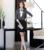 Nova Moda Listrada Primavera Queda Escritório Formal Ternos Desgaste do Trabalho Com 2 Peças Tops E Saia Mulheres de Negócio Ternos de Saia