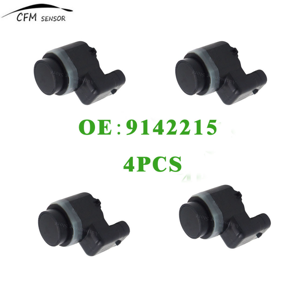 4pcs New 9142215 PDC Ultrasonic Parking Sensor For BMW E60 E61 E63 E64 E70 E71 E83