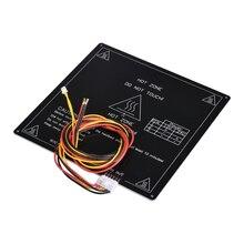 BIQU MK3 220*220*3 мм RepRap RAMPS 1,4 PCB Алюминий нагревательная плата печатного стола с кабелем для Mendel для 3D-принтеры