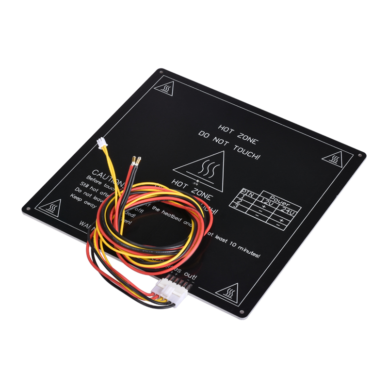 BIQU MK3 220*220*3mm RepRap RAMPS 1.4 PCB Aluminum Heatbed Hot Plate with cable For Mendel For 3D Printer