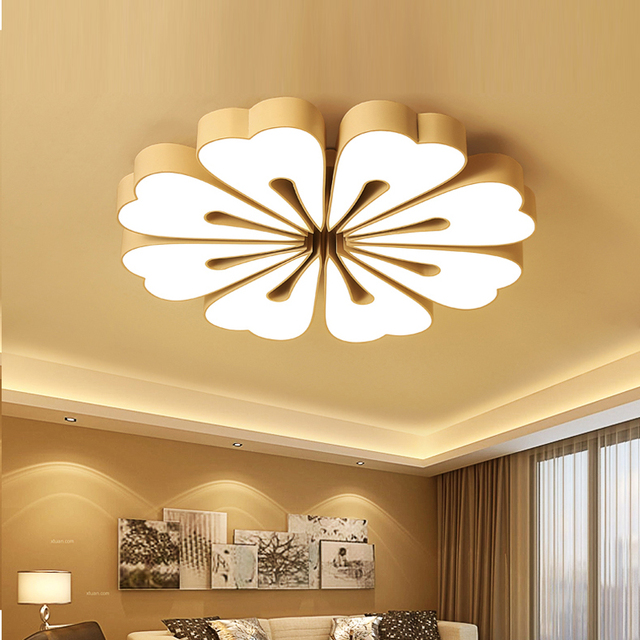Moden Wohnzimmer Deckenbeleuchtung Führte Hängende AC 110 V 240 V Schwarz  Weiß Deckenleuchten Führte Deckenleuchten