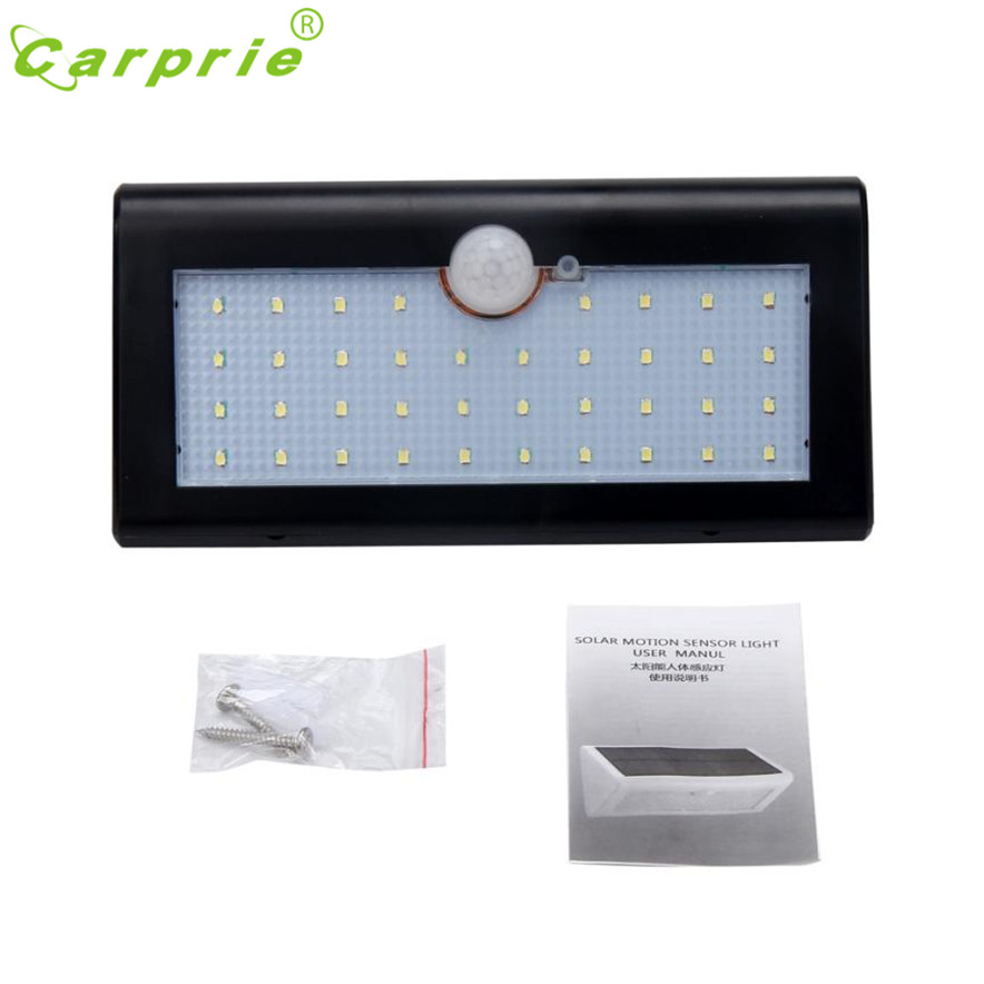 CARPRIE lámpara Solar Sensor de movimiento luz 38 LED inalámbrico energía  Solar inicio Oficina de luz L7110 nave de la gota 82972f221a61