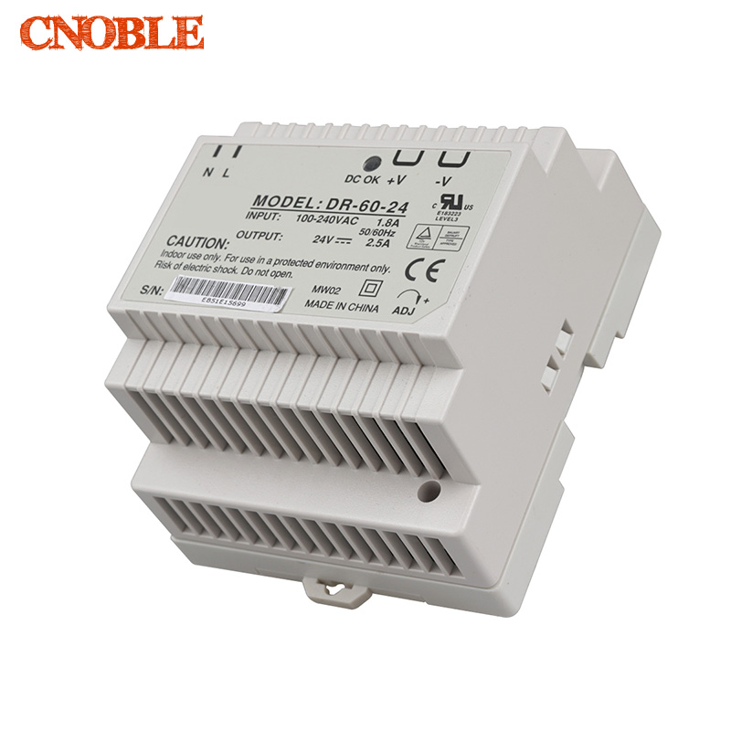 Din rail power supply 60w 24V power suply 24v 60w ac dc converter DR-60-24v good quality free shipping din rail power supply 60w 5v power suply 5v 60w ac dc converter dr 60 5 good quality from china factory