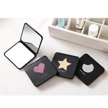 Makeup Mirror Double Folded Square Compact Small Mirrors Portable Mirror For Home Outdoor Travel Random Style Free Shipping