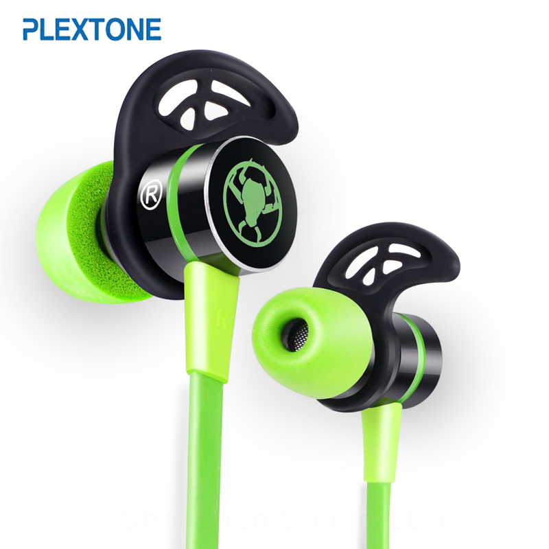 PLEXTONE G20 In-ear Earphone With Microphone Wired Magnetic Gaming Headset Stereo Bass Earbuds Computer Earphone For Phone Sport anbes in ear wired earphone metal magnetic headset for phone with mic microphone super bass 3 5mm jack standard stereo earbuds