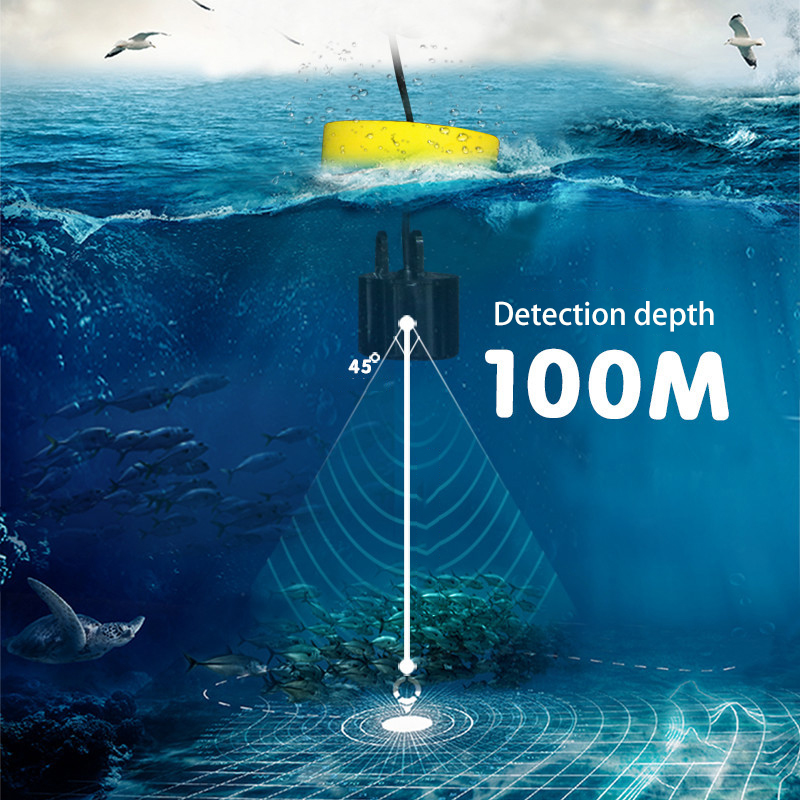 Image 2 - New Arrival Wired 100M Portable Sonar LCD Fish Finders Fishing lure Echo Sounder Fishing Finder-in Fish Finders from Sports & Entertainment
