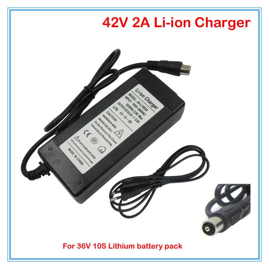 10 шт./лот 42 В 2A зарядное устройство RCA Порты и разъёмы 36 В 2A Мощность питания используется для 10 s 36 В 8ah 10ah 12ah и 15ah e-велосипед батареи DHL Бесплатная доставка