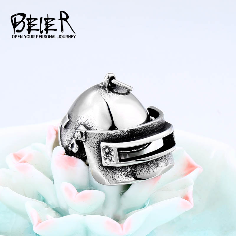 BEIER Jedi survival Royale 3 Russian Special Team Helmet Pendant &Necklace Kill Chicken Game Men`s Jewelry for boys gift LHP039