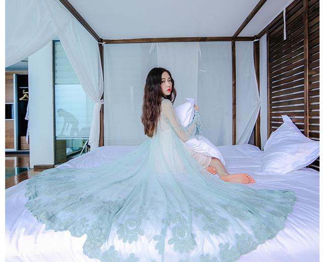 Novas mulheres sexy fantasia elegante longo nightgowns rendas 2 pedaço de um conjunto de altíssima qualidade plus size vestido de dormir
