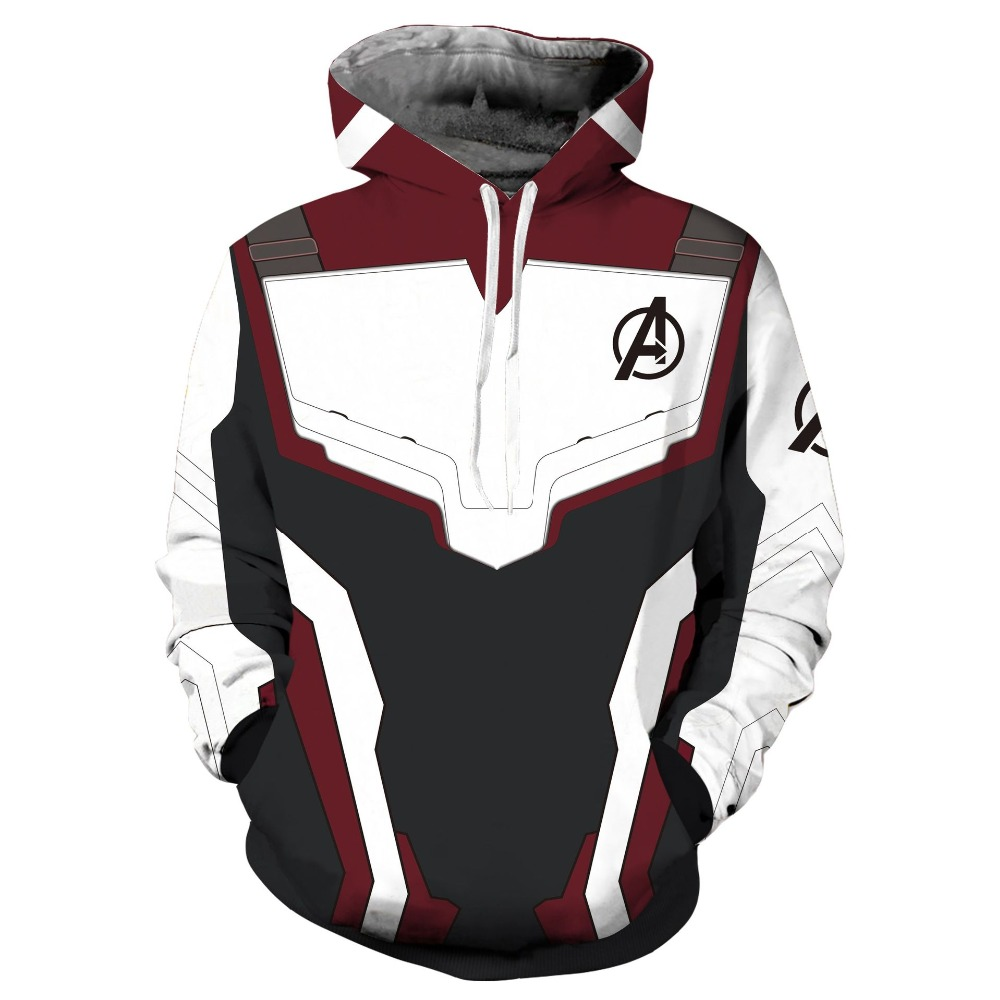 Avengers 4 Endgame Quantum Realm Sweatshirt Jacket Advanced Tech Embroidery Hoodie Cosplay Costumes