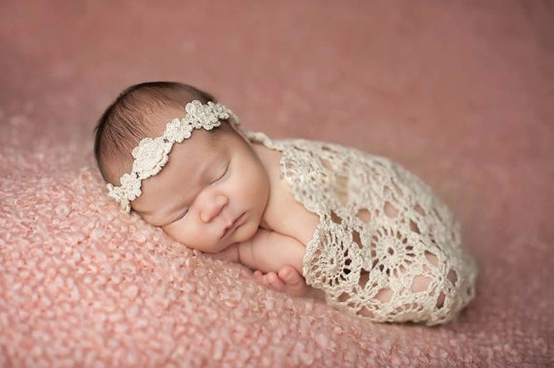 Crochet-Baby-Blankets-Newborn-Photography-Props-Rosette-Wrap-Baby-Pattern-Knitted-P0240