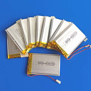 wholesale 10 pcs 3.7V 650mAh 303759 Rechargeable battery lipo polymer lithium for MP3 GPS DVD bluetooth recorder camera