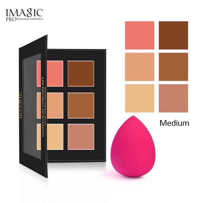 IMAGIC 6 Colors Contour Palette Concealer Makeup Party Contour Palette With Make-up Brushes Maquiagem Face Cream Palette